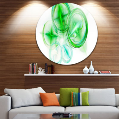Design Art Green Fractal Desktop Abstract Circle Metal Wall Art