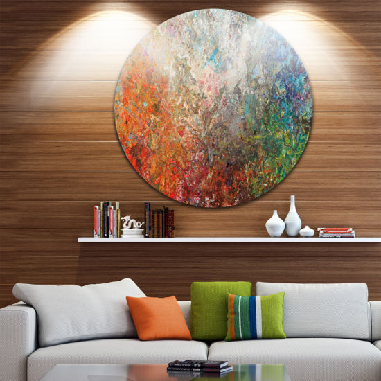 Design Art Board Stained Abstract Art Disc Abstract Circle Metal Wall Art