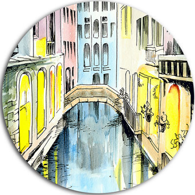 Design Art Canal in Venice Large Cityscape Metal Artwork