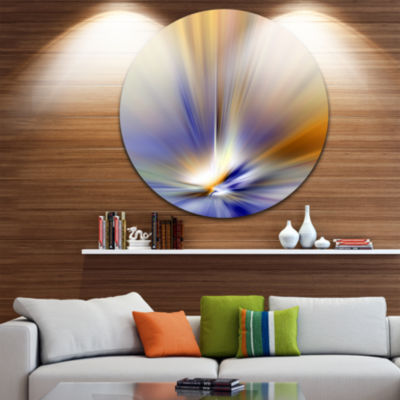 Design Art Brown Focus Light Upward Large AbstractCircle Metal Wall Art