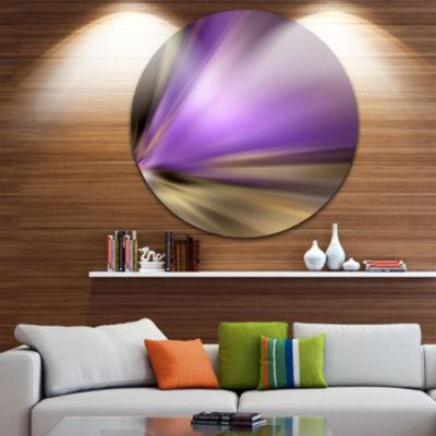 Design Art Bright Purple Shade Upward Large Abstract Circle Metal Wall Art