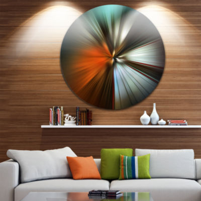 Design Art Brown Focus Color Abstract Circle MetalWall Art