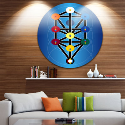Design Art Cabala Jewish Symbols Abstract Circle Metal Wall Art