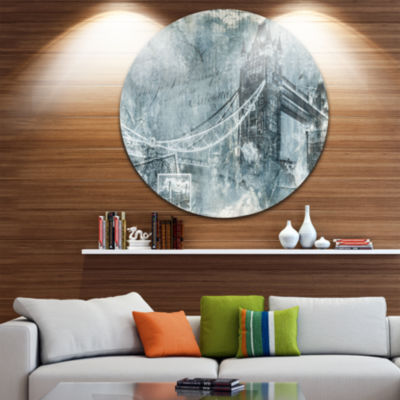 Design Art Tower Bridge London Disc Contemporary Circle Metal Wall Art