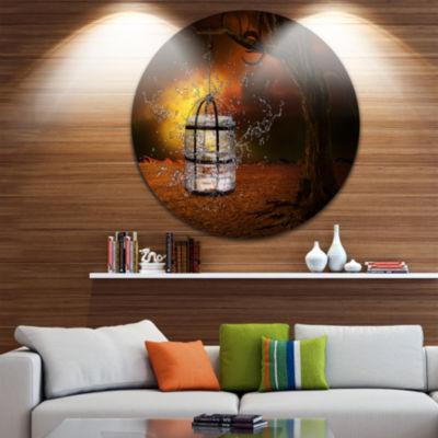 Design Art Water Locked Cage Abstract Circle MetalWall Art