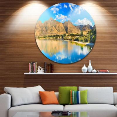 Design Art Wanaka Lake Disc Landscape PhotographyCircle Metal Wall Art