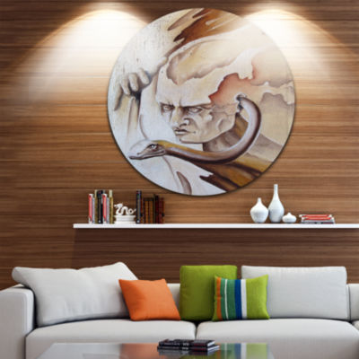 Design Art Voice Inside Disc Abstract Circle MetalWall Art