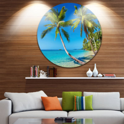 Design Art Tropical Beach Thailand Disc LandscapePhoto Circle Metal Wall Art
