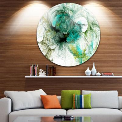 Design Art Wings of Angels Green Abstract Circle Metal Wall Art