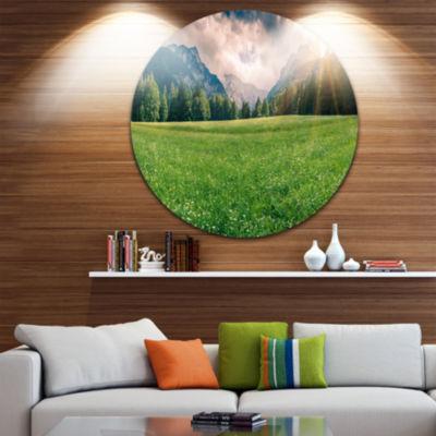 Design Art Triglav Mountain Panorama Landscape Photography Circle Metal Wall Art