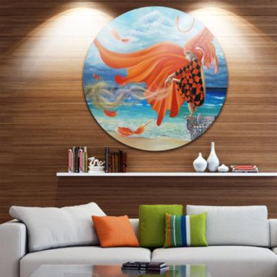 Design Art Wind Blows All Disc Abstract Circle Metal Wall Art