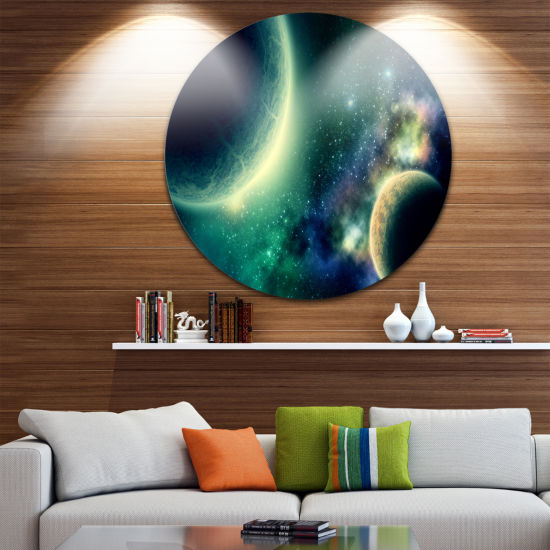 Design Art Two Planets Disc Abstract Circle MetalWall Art