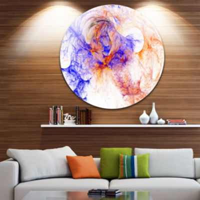 Design Art Wings of Angels Blue Abstract Circle Metal Wall Art