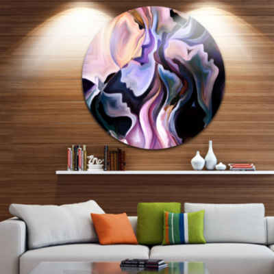 Design Art Voyages to Inner Self Disc Abstract Circle Metal Wall Art