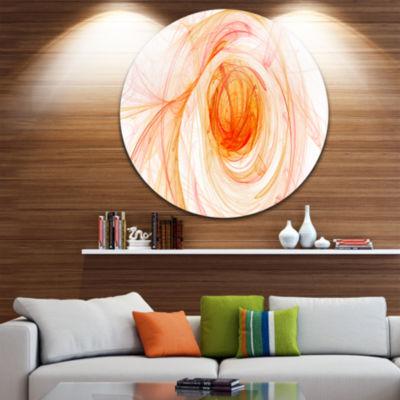 Design Art Yellow Ball of Yarn Disc Abstract Circle Metal Wall Art