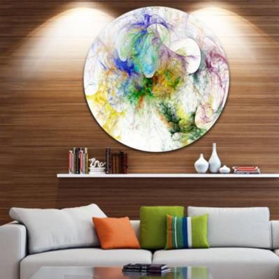 Design Art Wings of Angels Purple Abstract CircleMetal Wall Art