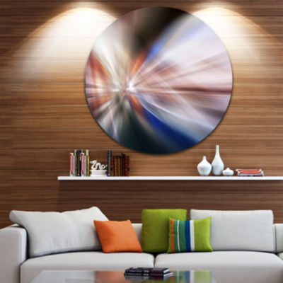 Design Art White Focus Color Abstract Circle MetalWall Art
