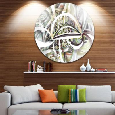 Design Art Symmetrical Spiral Fractal Flowers DiscLarge Contemporary Circle Metal Wall Arts