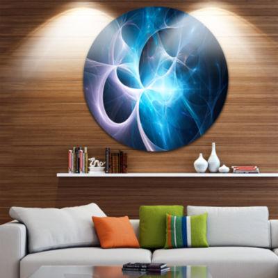 Design Art Strange Fractal Blue Desktop Large Abstract Circle Metal Wall Art