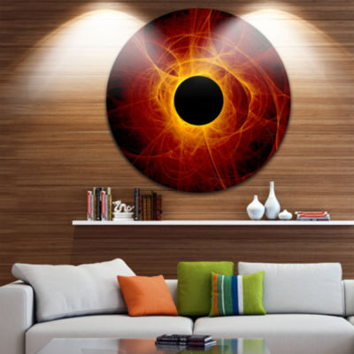 Design Art The Eye of God Digital Art Abstract Round Circle Metal Wall Decor Panel