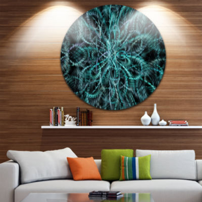 Design Art Unusual Starry Fractal Round Metal Grill Abstract Round Circle Metal Wall Decor