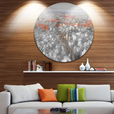 Design Art When the Cloud Descends Disc Large Contemporary Circle Metal Wall Arts