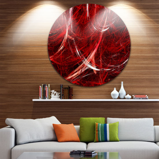 Design Art Swirling Clouds Abstract Circle Metal Wall Art