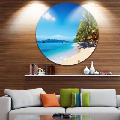 Design Art Tropical Beach Thailand Disc Photography Circle Metal Wall Art