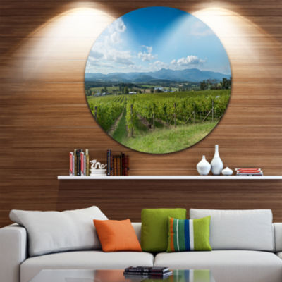 Design Art View of the Yarra Valley Melbourne DiscPhotography Circle Metal Wall Art