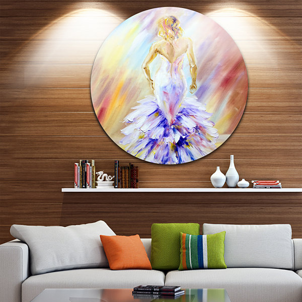 Design Art Woman at the Ball Portrait Circle MetalWall Art