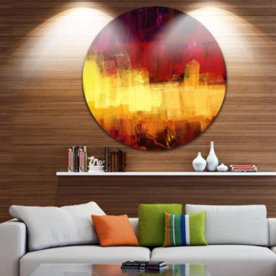 Design Art Textured Effect Digital Abstract Art Abstract Circle Metal Wall Art