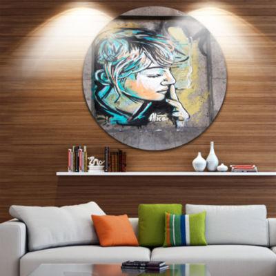 Design Art Street Art by C215 Disc Street Art Circle Metal Wall Art