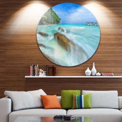 Design Art Tachai Island in Thailand Landscape Disc Photography Circle Metal Wall Art