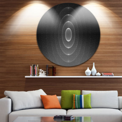 Design Art Vector Interstellar Space Background Abstract Round Circle Metal Wall Decor Panel