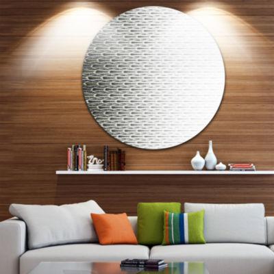 Design Art White Symmetrical Fractal Flower Abstract Round Circle Metal Wall Decor