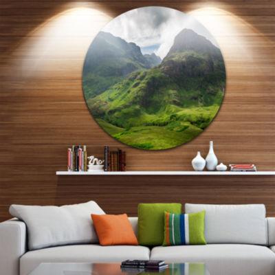 Design Art Summer in Scotland Disc Landscape Photography Circle Metal Wall Art