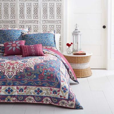 Azalea Skye Zahra Blue Quilt Set