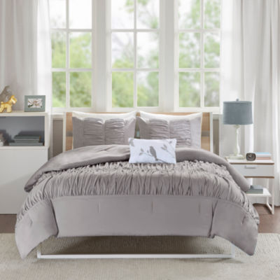 Mi Zone Delia Ruched Comforter Set
