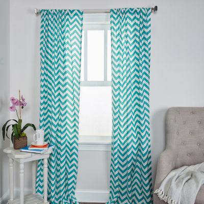 Rizzy Home Alexis Chevron Cotton Window Panel