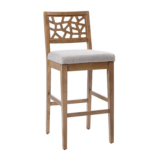 INK + IVY Crackle Counter Stool