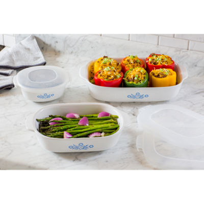 Corningware Cornflower 6 Piece Set Bakeware Set