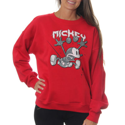 """Mickey Mouse Juniors' Frightened Pose """"Since 1929""""Vintage Graphic Sweatshirt"""
