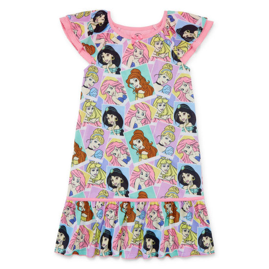 Disney Short Sleeve Disney Princess Nightshirt-Toddler Girls