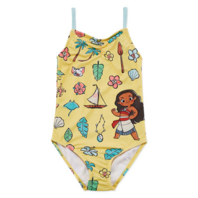 Disney Collection Girls Moana One Piece Swimsuit Preschool / Big Kid