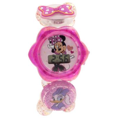 Disney Minnie Mouse Girls Multicolor Strap Watch-Minkd16311