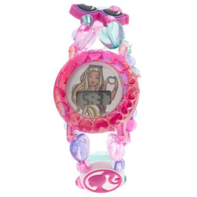 Barbie Barbie Girls Multicolor Strap Watch-Barkd16127