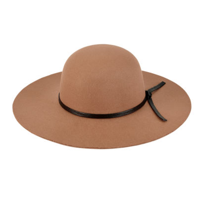 San Diego Hat Company Womens Faux Felt Round Crown Floppy
