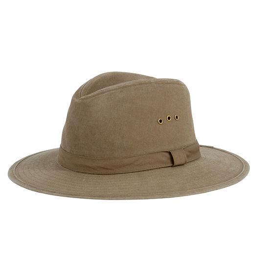 San Diego Hat Company Distressed Canvas Fedora