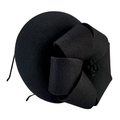 San Diego Hat Company Wool Felt Fascinator With Bow Detail