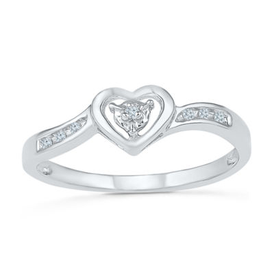 Promise My Love Womens Diamond Accent Round White Diamond 10K Promise Ring